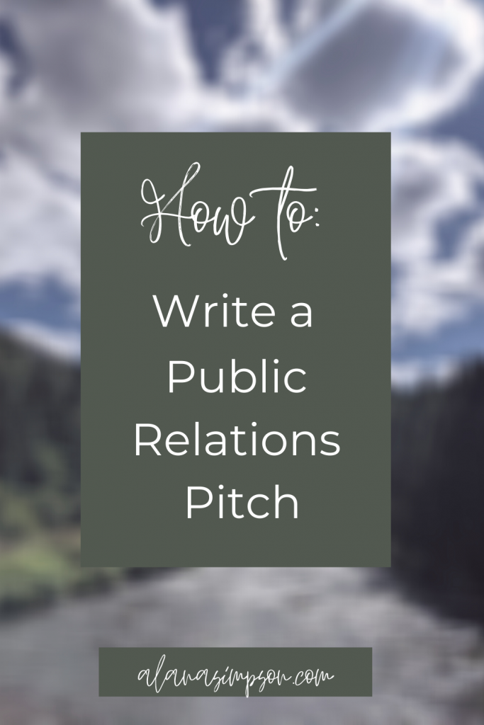 how to write a public relations pitch from alanasimpson.com