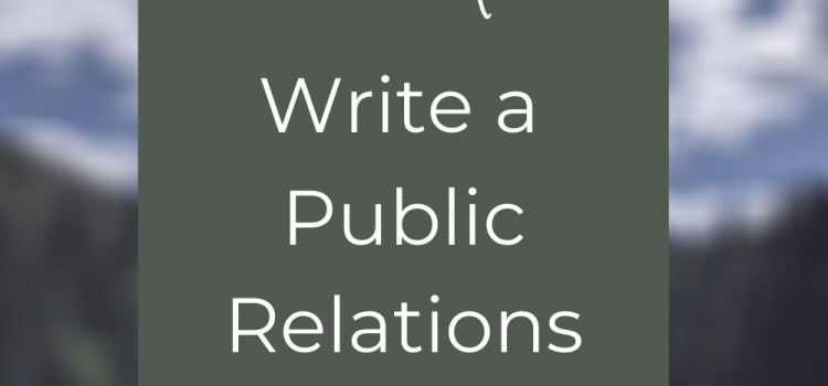 How to write a public relations pitch
